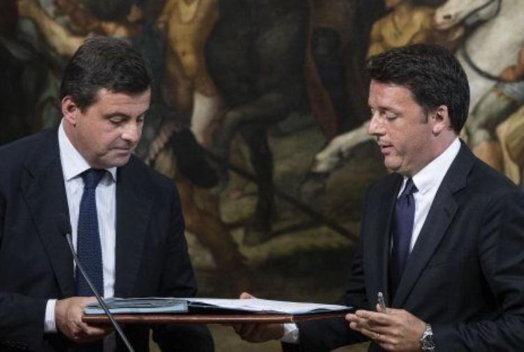 Calenda e Renzi (Ansa)