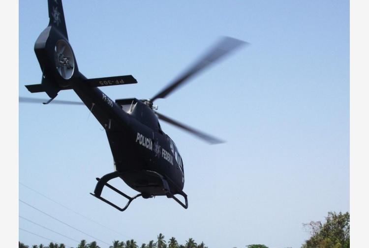 Apatzingan, uomini armati hanno abbattuto un elicottero della polizia