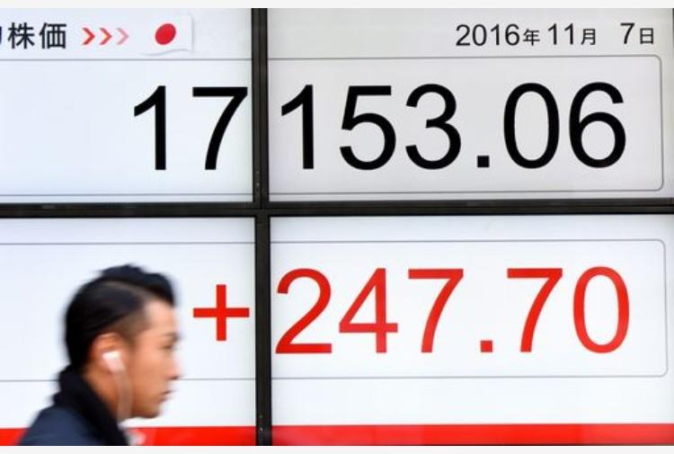 Usa, Trump presidente: crolla la Borsa di Tokyo, a picco i future