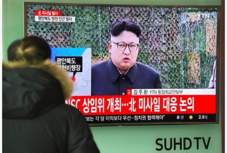Corea del Nord, missile con dedica a Donald Trump