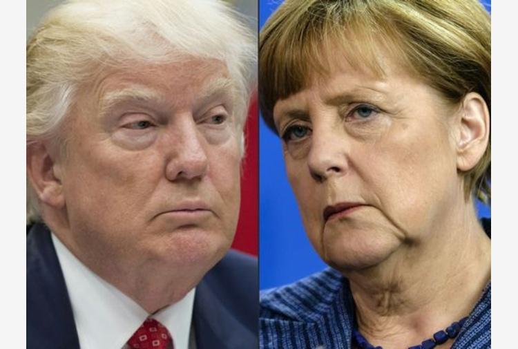Trump - Merkel, alla Casa Bianca: scontro su immigrati e dazi