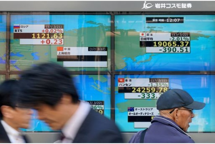 Borse asiatiche, in forte perdita su scia Wall Street