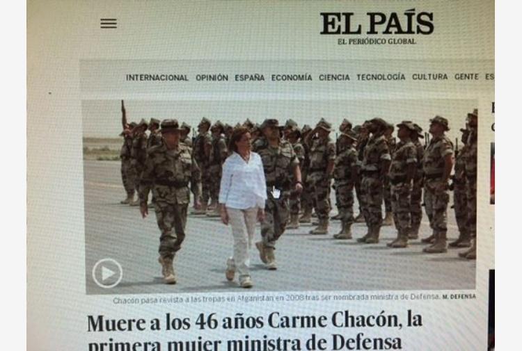 Morta a 46 anni Carme Chacón