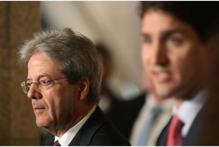 Gentiloni da Trudeau, insieme su migranti e libero scambio