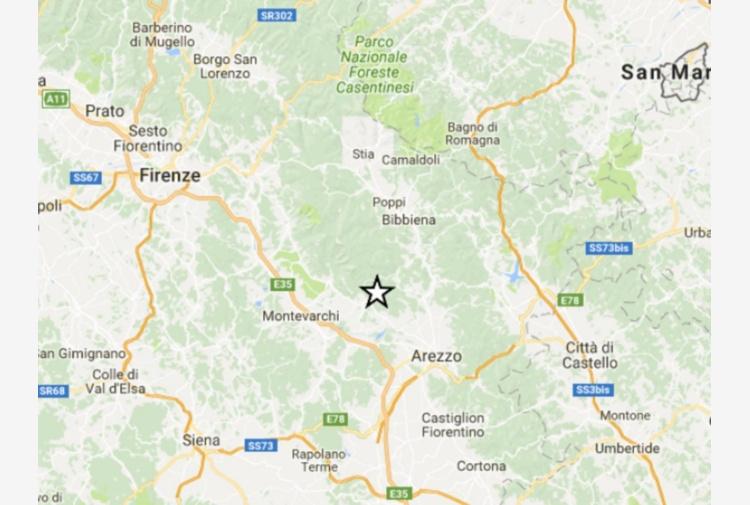 Terremoto, quattro lievi scosse avvertite in provincia di Arezzo