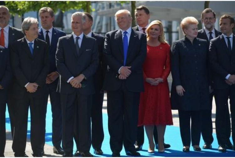 Donald Trump è arrivato a Roma