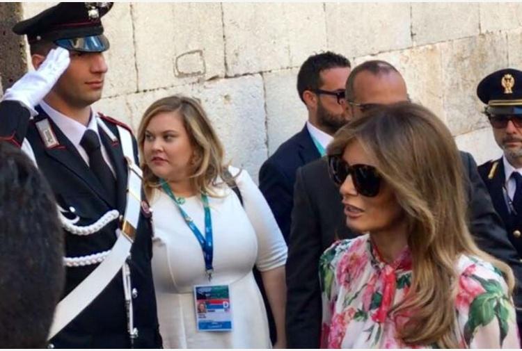G7. Melania Trump non va a Catania con altre consorti leader