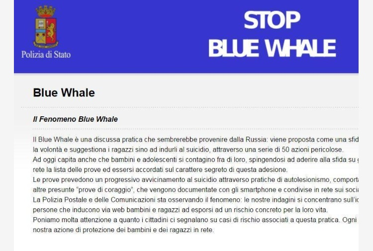 Blue Whale, ragazzina salva coetaneo dal suicidio