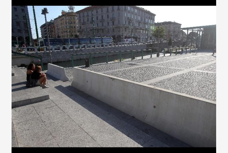 Milano, jersey antiterrorismo in Darsena