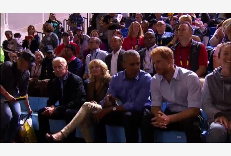 Principe Harry e Barack Obama fanno il tifo agli Invictus Games