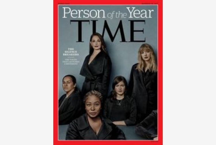 Movimento MeToo è la persona anno Time