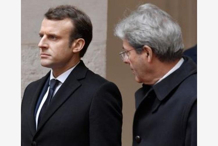 Gentiloni: con Macron al lavoro per trattato Italia-Francia