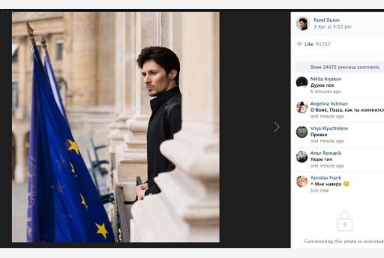 Mosca blocca Telegram e Durov diventa l'anti Zuckerberg