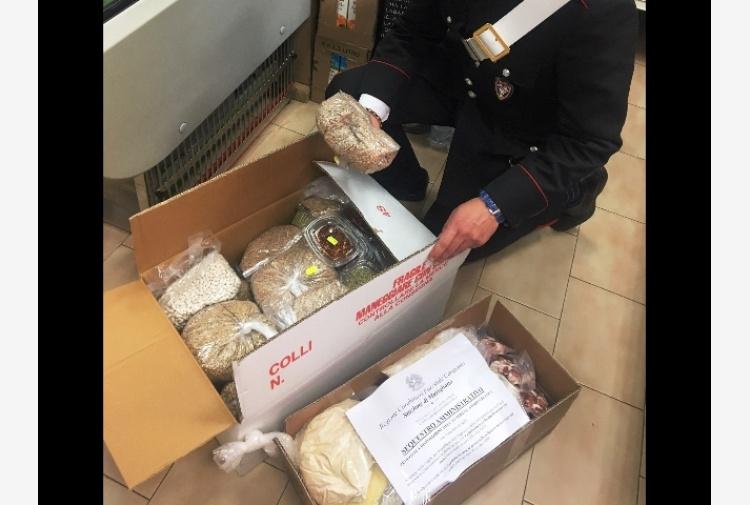 Nel Napoletano sequestrati 100kg di cibo