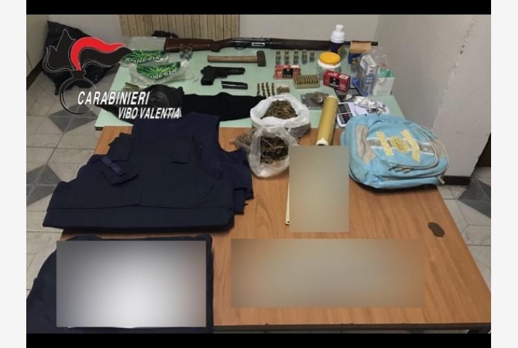 Fucile e pistola a casa,arresto fratelli