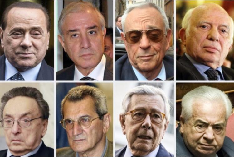 Taglio dei vitalizi ai condannati da berlusconi a toni for Lista politici italiani