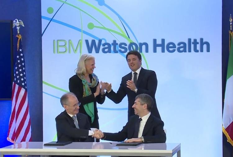 Renzi al Watson Health di Boston firma l'accordo