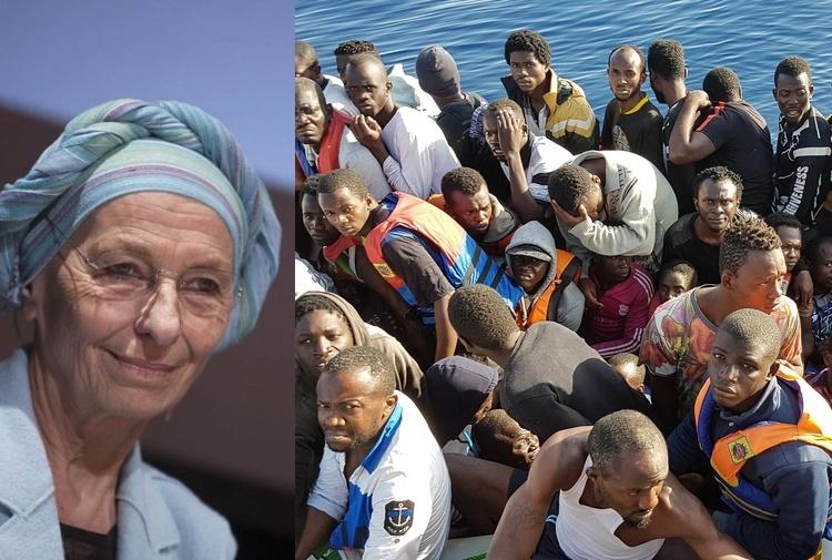 """Emma Bonino insiste: """"Portano i migranti in Italia per colpa dei nostri accordi sbagliati con l'Europa"""""""