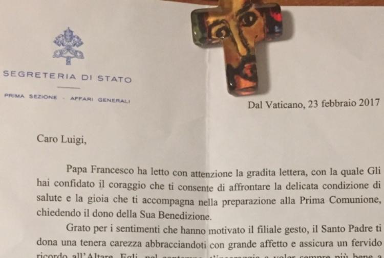 Luigi Invita Il Papa Alla Prima Comunione Tiscali Notizie
