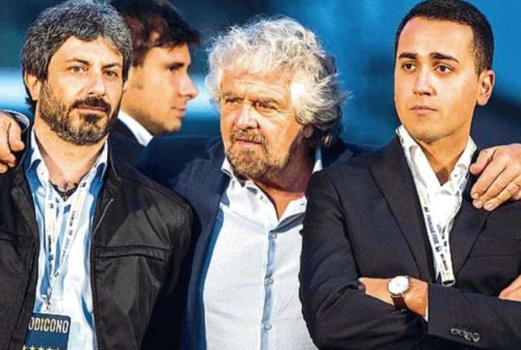 Grillo, Fico,  Di Maio  e Di Battista