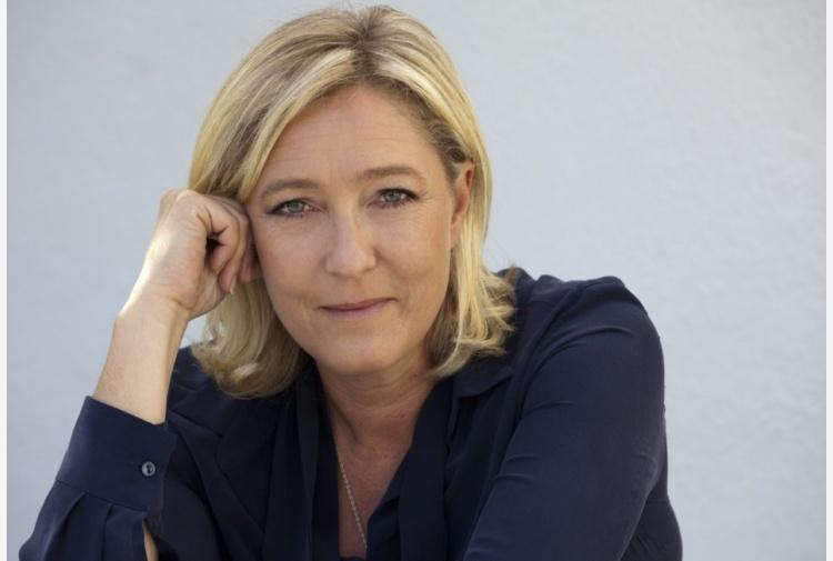 La leader della destra francese, Marine Le Pen