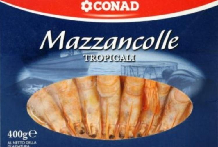 Conad richiama le mazzancolle tropicali dai supermercati