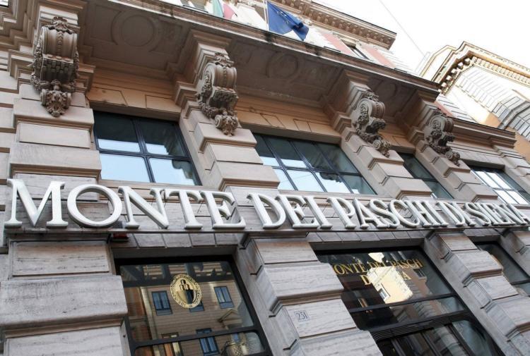 Milano in rosso. A picco Banca Mps