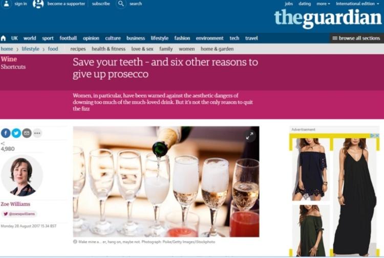 Prosecco nel mirino del Guardian: