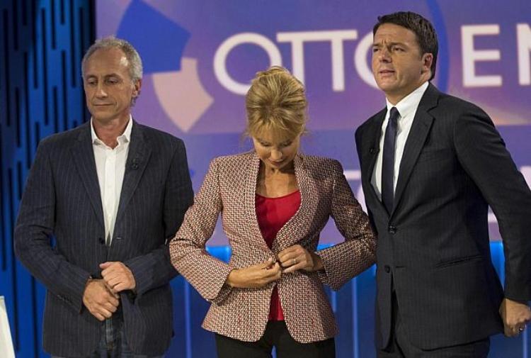 Otto e mezzo, Travaglio a Renzi: