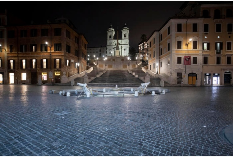 Roma deserta (Ansa)