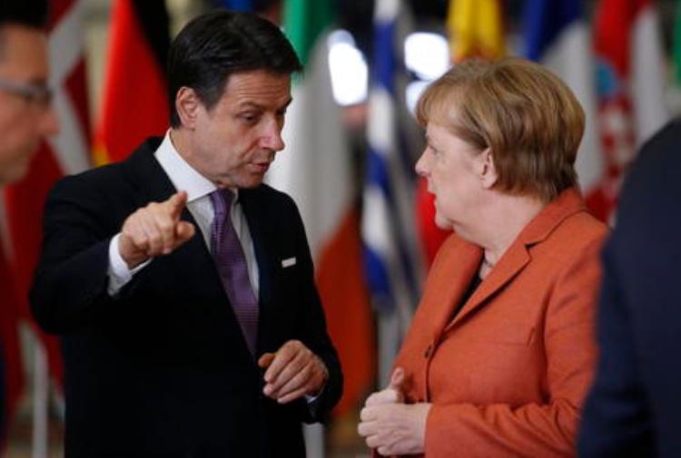 Conte e Merkel (Ansa)