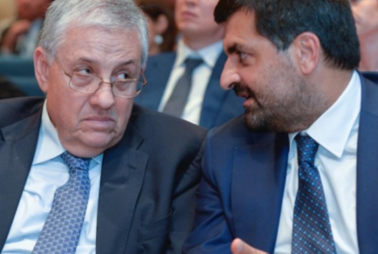 Giuseppe Pignatone, ex 'dominus' della Procura romana, e il magistrato Luca Palamara