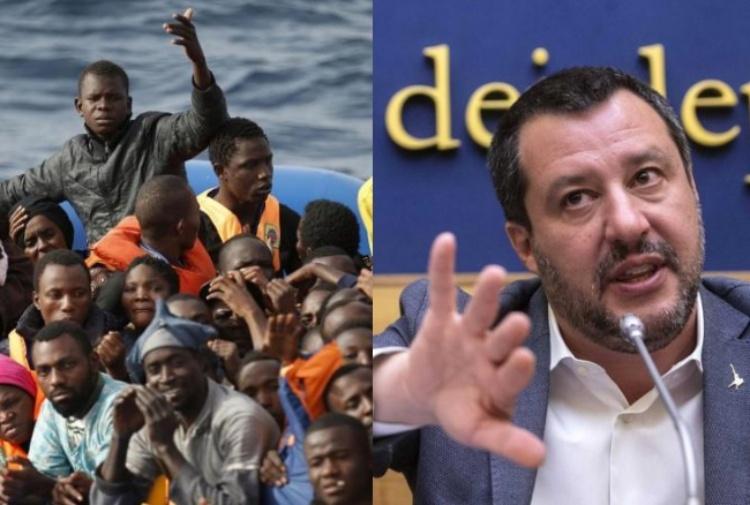 Risultati immagini per salvini migranti